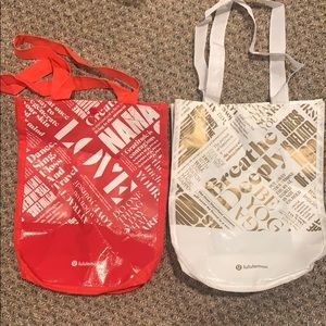 Lululemon reusable totes bundle